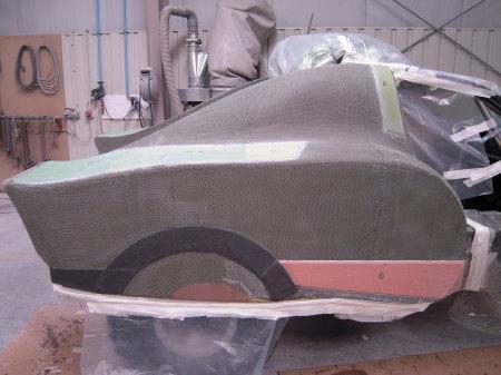 capot carbone pour voiture de rallye carbon fiber on rally car