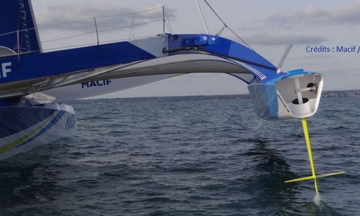 foil et safran macif / foil and rudder