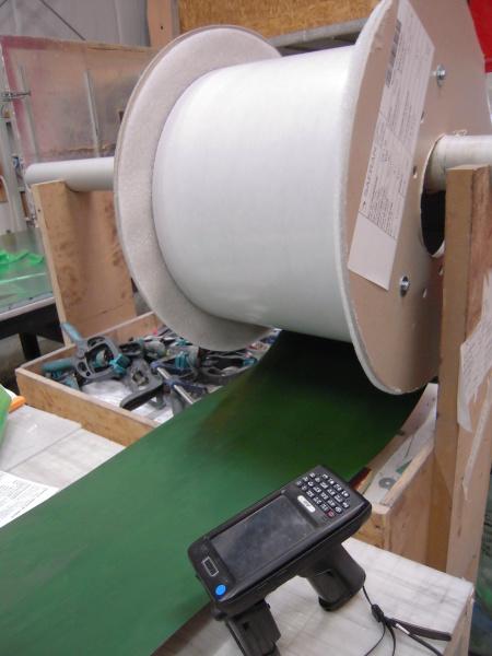 tracabilite des rouleaux de tissu composite via RFID traceability composites fabrics
