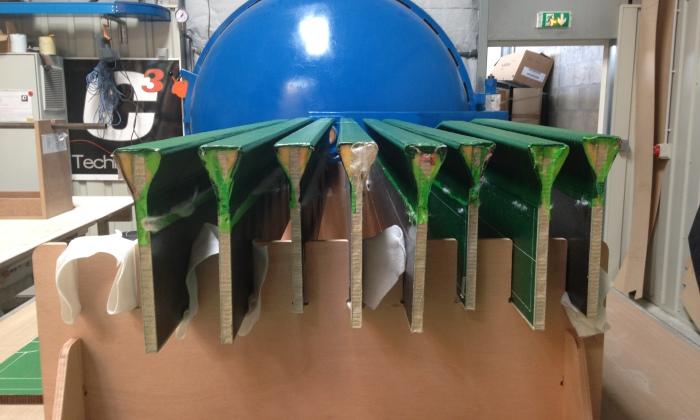 poutre bateau composite boat girders