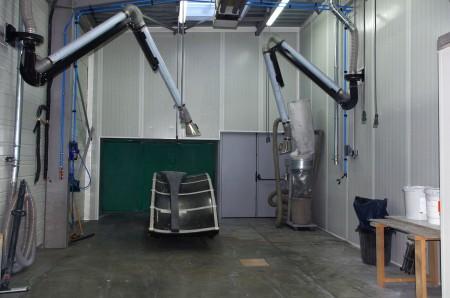 salle de ponçage et meulage carbone