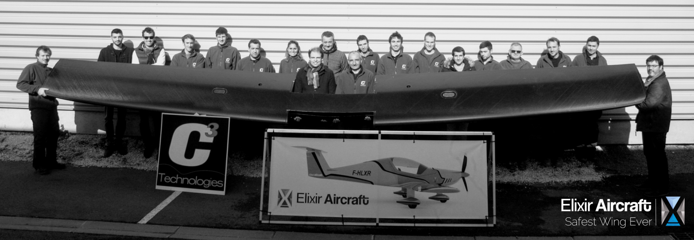 Aile caisson carbone elixir aircraft c3 technologies