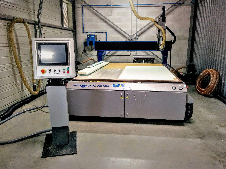 usinage matériaux tendres (mousse PU PVC, bois, lab), aluminium et carbone