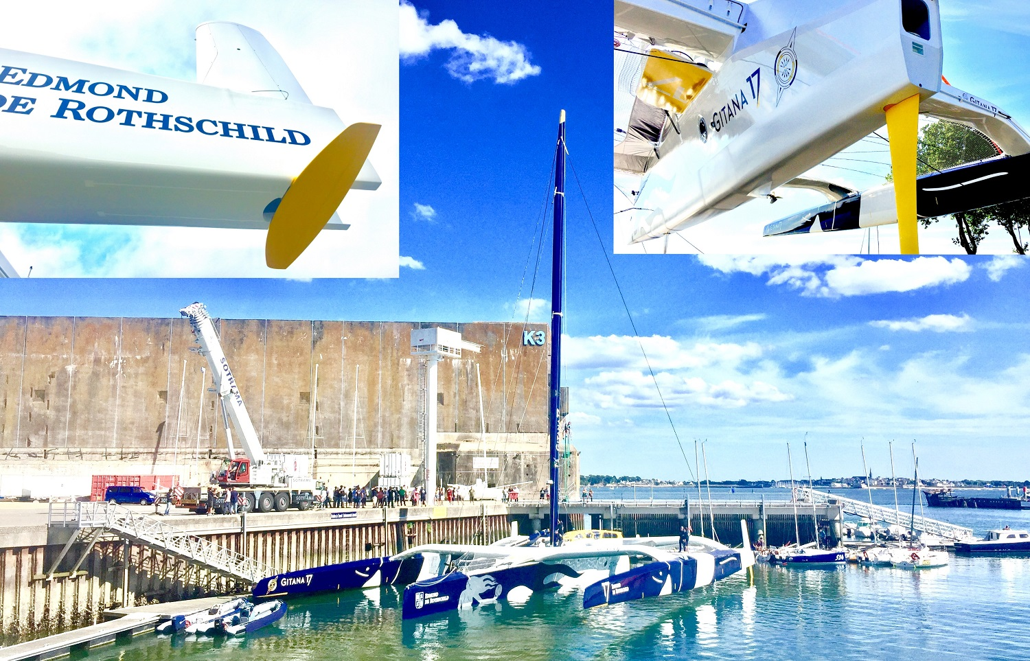 Gitana 17 Ultime boat launch C3 Technologies carbone rudder