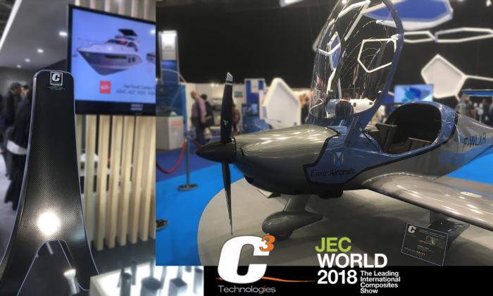 bowsprit-Elixir aircraft carbon fiber epoxy JEC World 2018