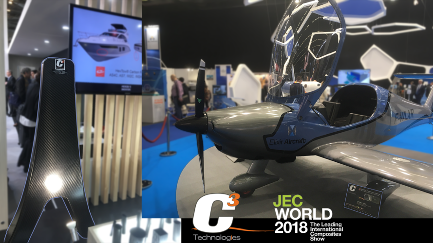 bowsprit-Elixir aircraft carbon fiber epoxy JEC World 2018