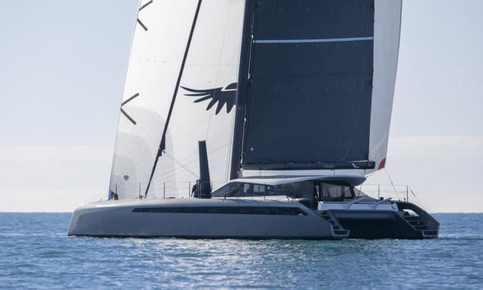 essai en navigation du Gunboat 68 (catamaran de luxe en carbone)
