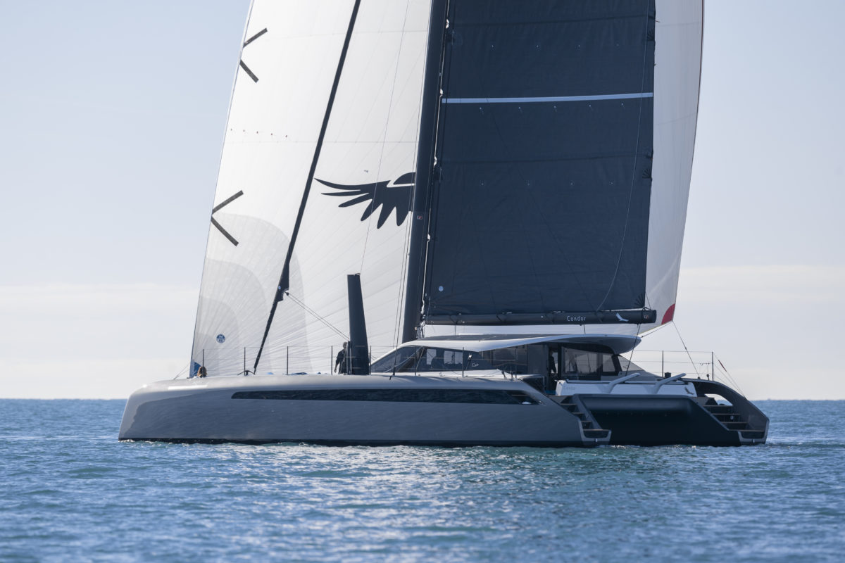 Gunboat 68 sail testing #2 (carbon luxury catamarans)
