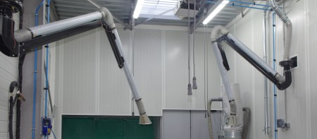 dust and steam extraction system