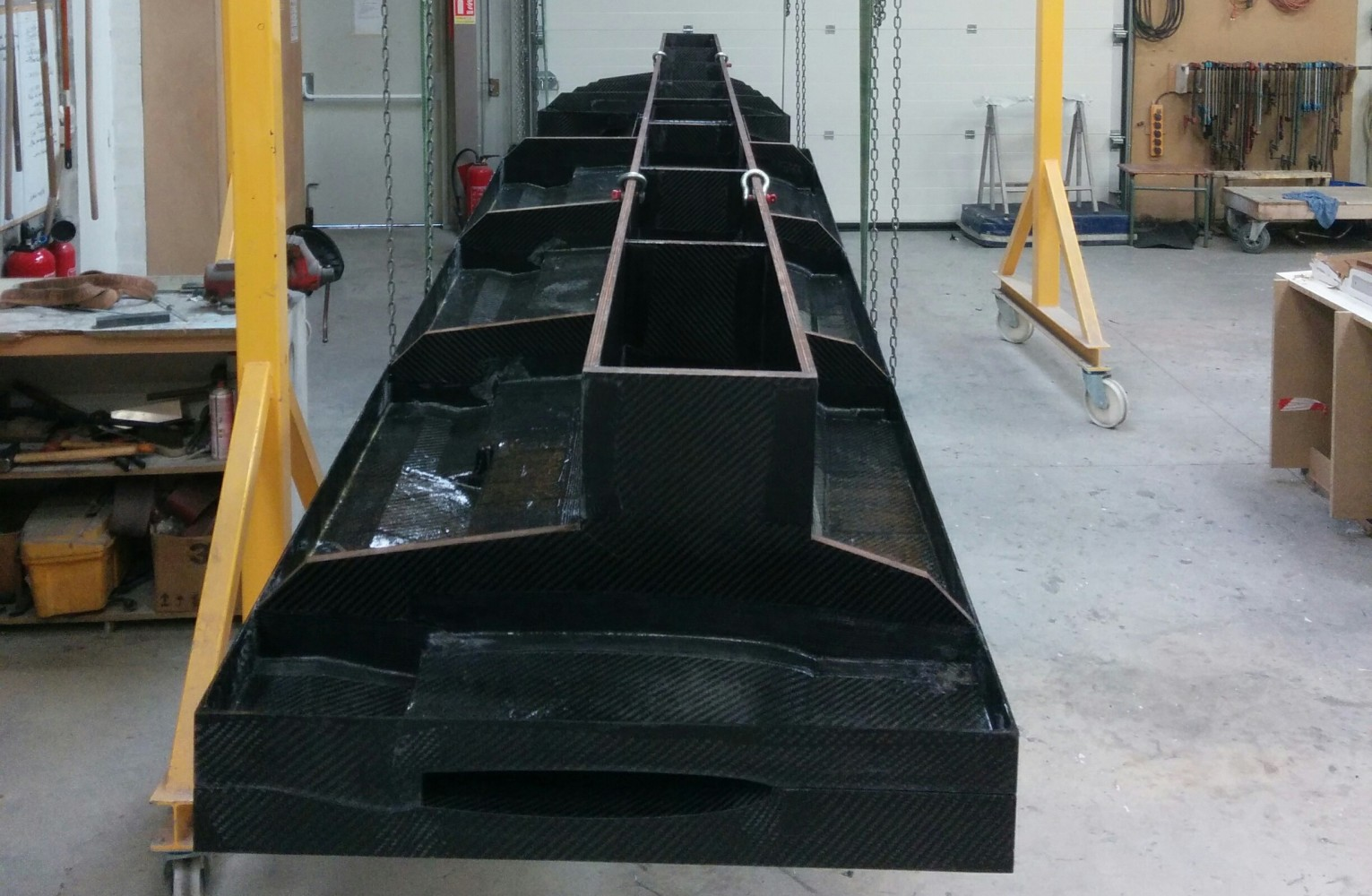carbon infusion wing tool elixir aircraft