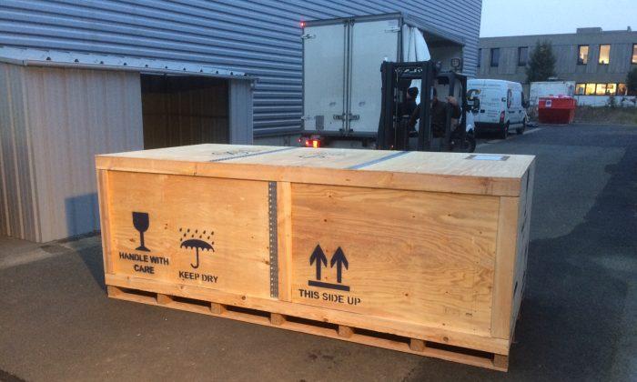 box aircraft parts shipping China