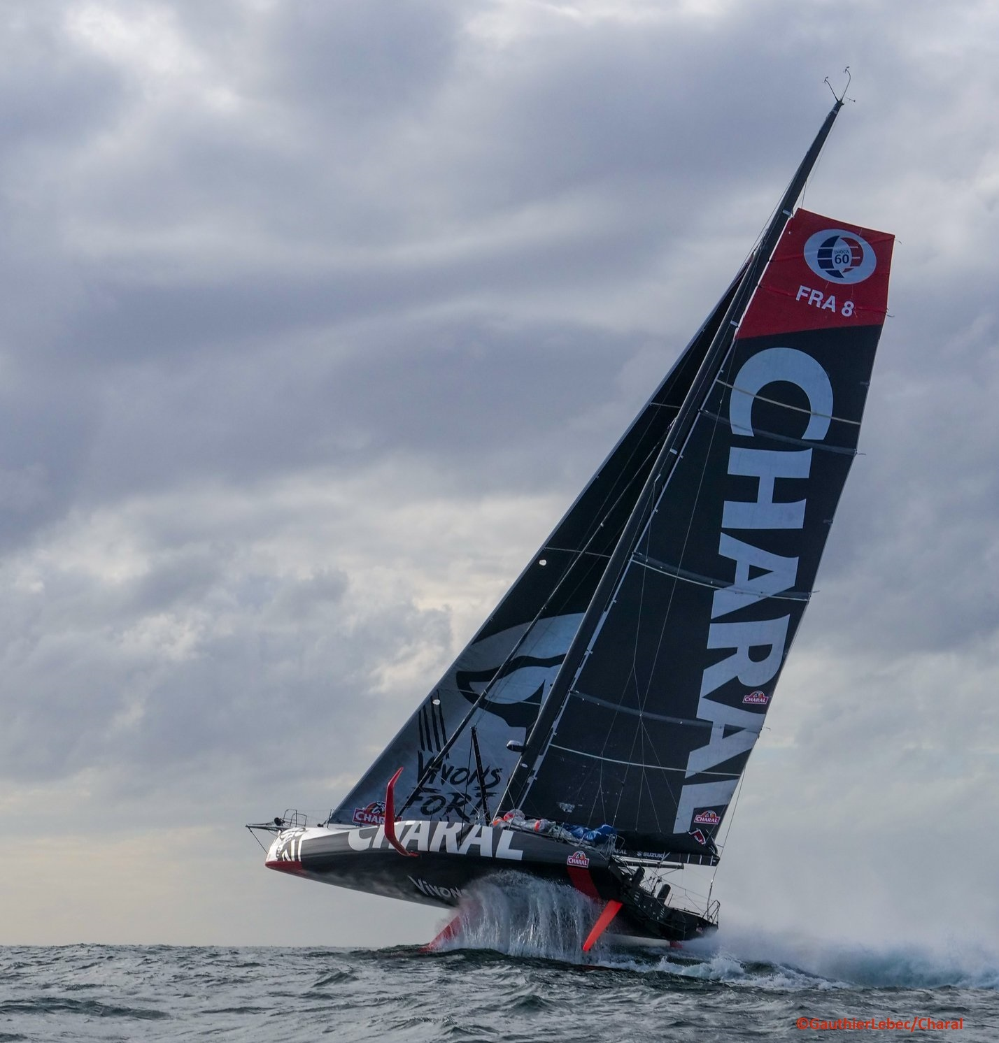 Imoca Charal Foiling - carbon racing boat